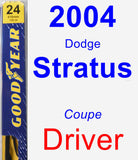 Driver Wiper Blade for 2004 Dodge Stratus - Premium