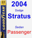 Passenger Wiper Blade for 2004 Dodge Stratus - Premium