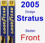 Front Wiper Blade Pack for 2005 Dodge Stratus - Premium