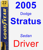 Driver Wiper Blade for 2005 Dodge Stratus - Premium