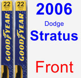 Front Wiper Blade Pack for 2006 Dodge Stratus - Premium