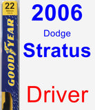 Driver Wiper Blade for 2006 Dodge Stratus - Premium