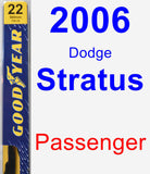 Passenger Wiper Blade for 2006 Dodge Stratus - Premium