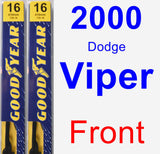 Front Wiper Blade Pack for 2000 Dodge Viper - Premium