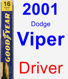 Driver Wiper Blade for 2001 Dodge Viper - Premium
