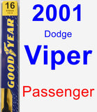 Passenger Wiper Blade for 2001 Dodge Viper - Premium