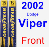 Front Wiper Blade Pack for 2002 Dodge Viper - Premium