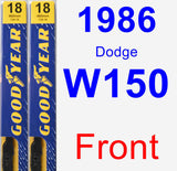 Front Wiper Blade Pack for 1986 Dodge W150 - Premium