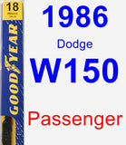 Passenger Wiper Blade for 1986 Dodge W150 - Premium