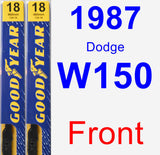Front Wiper Blade Pack for 1987 Dodge W150 - Premium