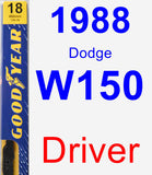 Driver Wiper Blade for 1988 Dodge W150 - Premium