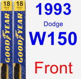 Front Wiper Blade Pack for 1993 Dodge W150 - Premium