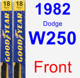 Front Wiper Blade Pack for 1982 Dodge W250 - Premium