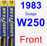 Front Wiper Blade Pack for 1983 Dodge W250 - Premium