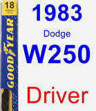 Driver Wiper Blade for 1983 Dodge W250 - Premium