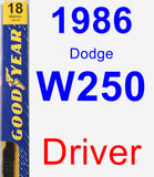 Driver Wiper Blade for 1986 Dodge W250 - Premium