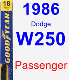 Passenger Wiper Blade for 1986 Dodge W250 - Premium