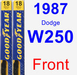 Front Wiper Blade Pack for 1987 Dodge W250 - Premium