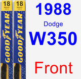 Front Wiper Blade Pack for 1988 Dodge W350 - Premium
