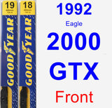 Front Wiper Blade Pack for 1992 Eagle 2000 GTX - Premium
