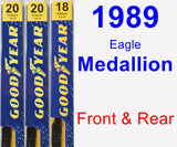 Front & Rear Wiper Blade Pack for 1989 Eagle Medallion - Premium