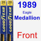 Front Wiper Blade Pack for 1989 Eagle Medallion - Premium