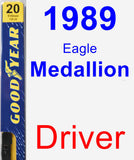 Driver Wiper Blade for 1989 Eagle Medallion - Premium