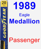 Passenger Wiper Blade for 1989 Eagle Medallion - Premium