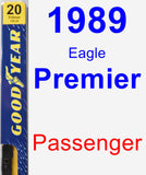 Passenger Wiper Blade for 1989 Eagle Premier - Premium