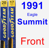 Front Wiper Blade Pack for 1991 Eagle Summit - Premium