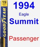 Passenger Wiper Blade for 1994 Eagle Summit - Premium