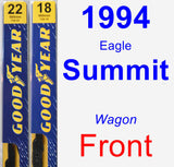 Front Wiper Blade Pack for 1994 Eagle Summit - Premium