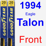 Front Wiper Blade Pack for 1994 Eagle Talon - Premium