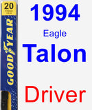 Driver Wiper Blade for 1994 Eagle Talon - Premium