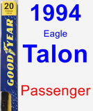 Passenger Wiper Blade for 1994 Eagle Talon - Premium