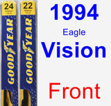 Front Wiper Blade Pack for 1994 Eagle Vision - Premium