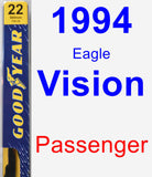 Passenger Wiper Blade for 1994 Eagle Vision - Premium