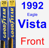 Front Wiper Blade Pack for 1992 Eagle Vista - Premium
