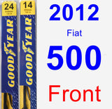 Front Wiper Blade Pack for 2012 Fiat 500 - Premium