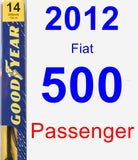 Passenger Wiper Blade for 2012 Fiat 500 - Premium