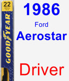 Driver Wiper Blade for 1986 Ford Aerostar - Premium