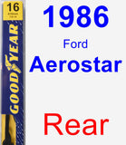 Rear Wiper Blade for 1986 Ford Aerostar - Premium
