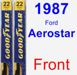 Front Wiper Blade Pack for 1987 Ford Aerostar - Premium