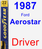 Driver Wiper Blade for 1987 Ford Aerostar - Premium