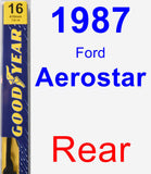 Rear Wiper Blade for 1987 Ford Aerostar - Premium