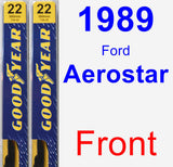 Front Wiper Blade Pack for 1989 Ford Aerostar - Premium