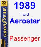 Passenger Wiper Blade for 1989 Ford Aerostar - Premium