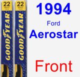 Front Wiper Blade Pack for 1994 Ford Aerostar - Premium