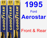 Front & Rear Wiper Blade Pack for 1995 Ford Aerostar - Premium