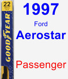 Passenger Wiper Blade for 1997 Ford Aerostar - Premium